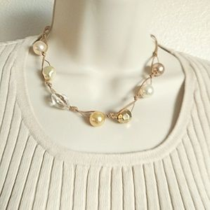 Cookie Lee Fax Pearl Necklace